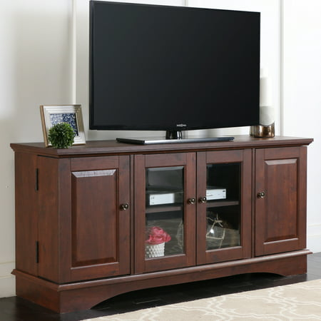Walker Edison Wood Tv Stand For S Up To 60 Traditional Brown