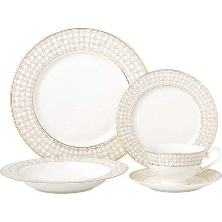 Royalty Porcelain Vintage Medieval Net 5-pc Place Setting 'Golden Medieval', Premium Bone China Porcelain](Medieval Table Setting)