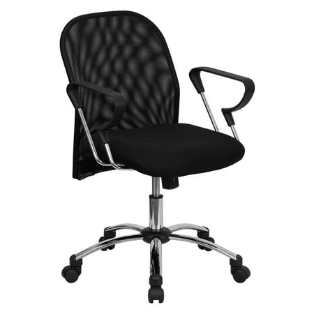 Mesh Mid-Back Office Task Chair with Chrome Base,
