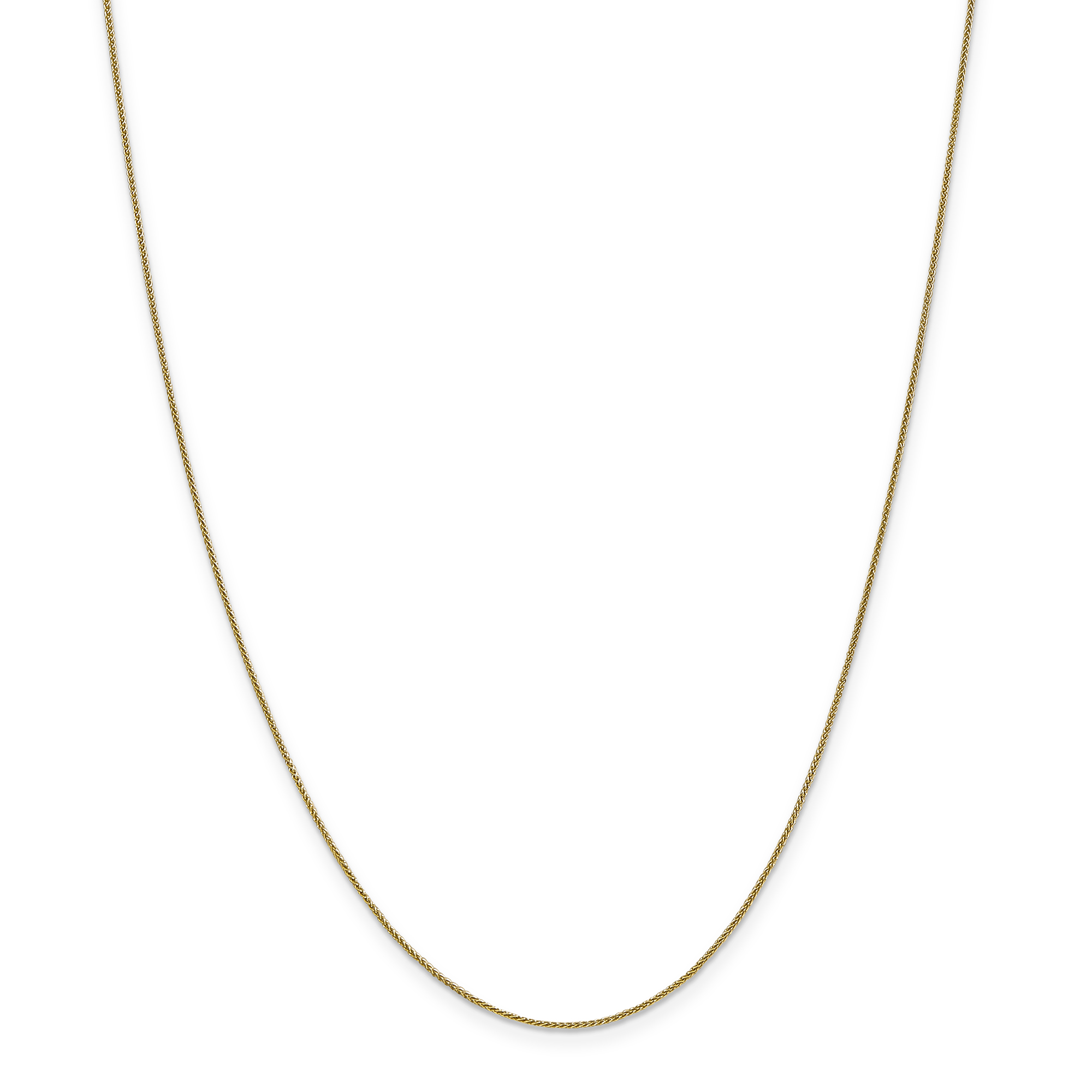 14K Yellow Gold 0.80mm Spiga Pendant Chain 16 Inch - image 5 de 5