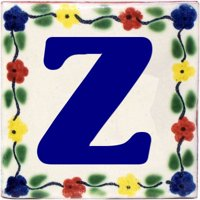 Bouquet Talavera Clay House Letter Z, Set of 2 pcs