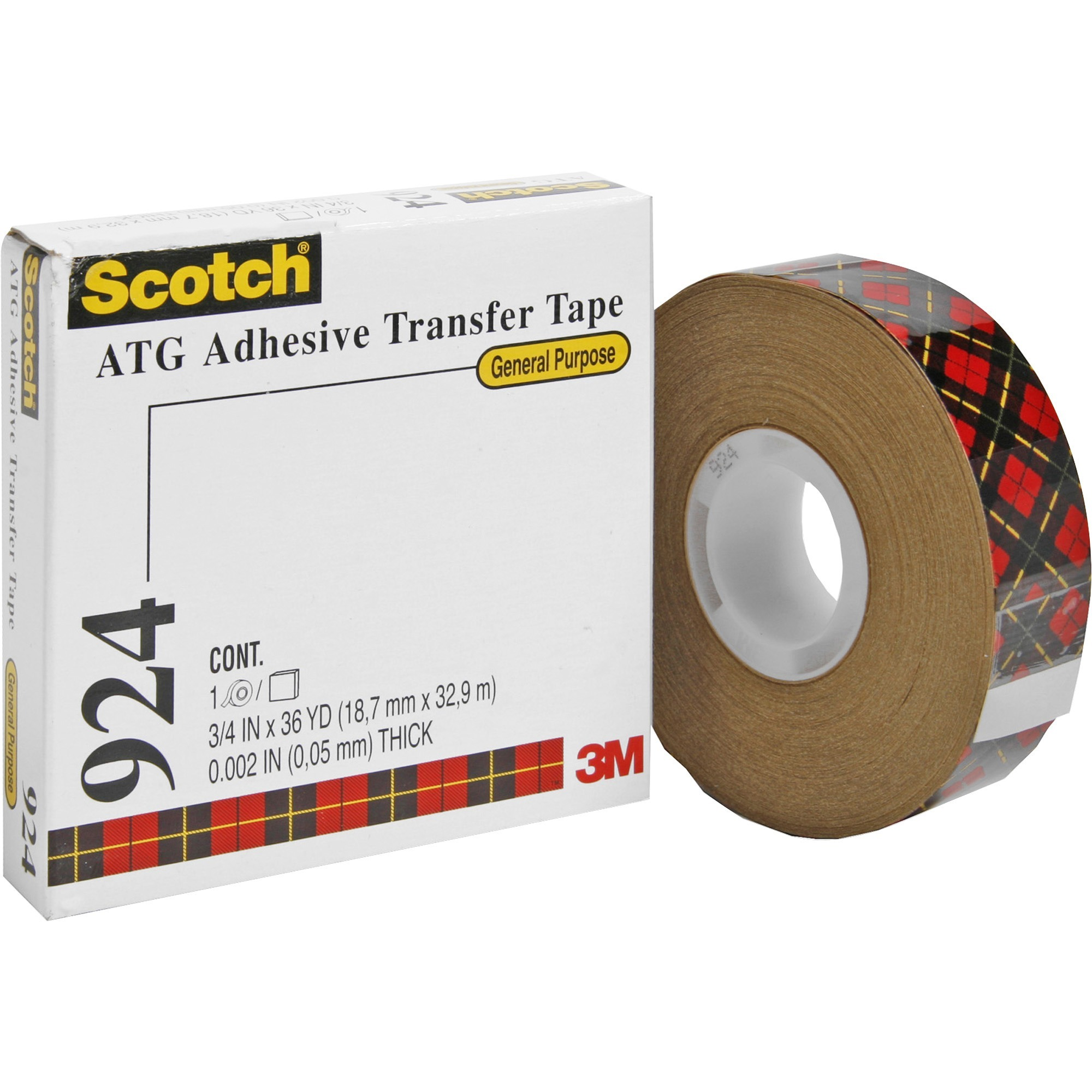 "3M #924 Adhesive Transfer Tape, 3/4"" x 36 yds."