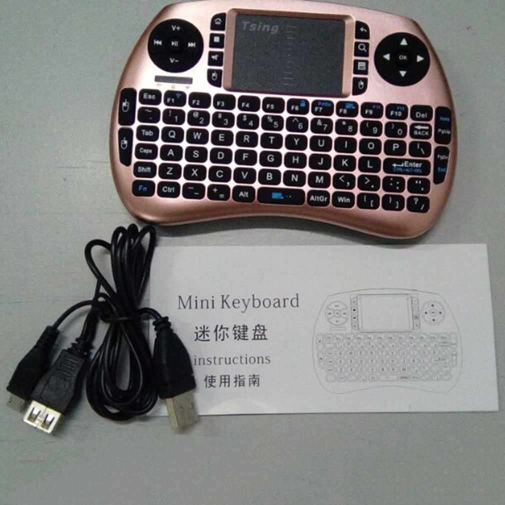 """21S Mini 2.4G Wireless Multifunctional Computer Table PC Hand Held Portable Keyboard English For Pad"""