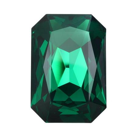 Swarovski Crystal, #4627 Octagon Fancy Stone 27x18.5mm, 1 Piece, Emerald (Octagon Emerald)