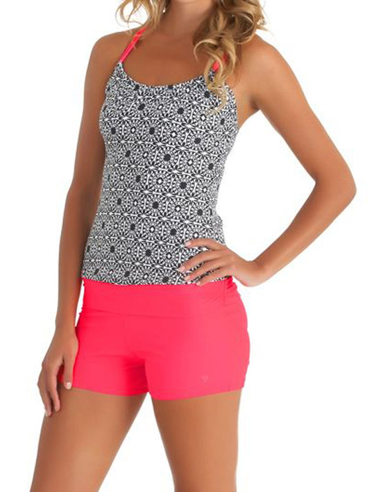 Plus Size Women's Tankini Set Swimwear Swimsuit Push Up Padded Bikini Set Swimwear Bathing Suit Summer Beach Ware Red S-XXXL