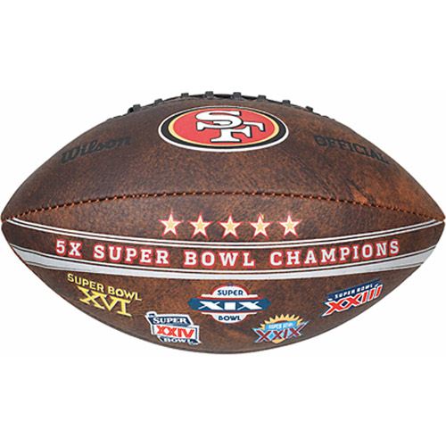 "Wilson NFL Commemorative Championship 9"" Football, San Francisco 49ers"