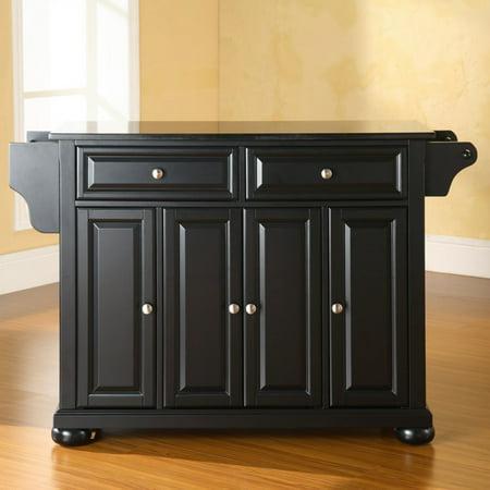 Large Black Granite Top (Crosley Furniture Alexandria Solid Black Granite Top Kitchen Island )
