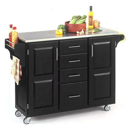 Home Styles Large Kitchen Cart, Black - Walmart.com