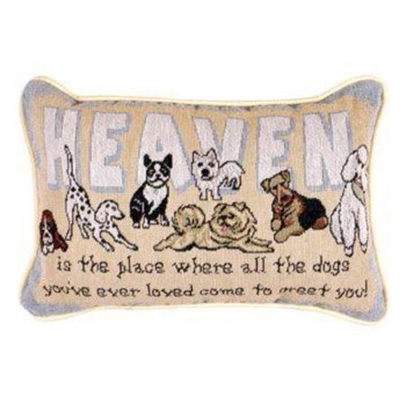 Decorative Pillows Dogs : Set of 2 Heaven Dogs Decorative Throw Pillows 9