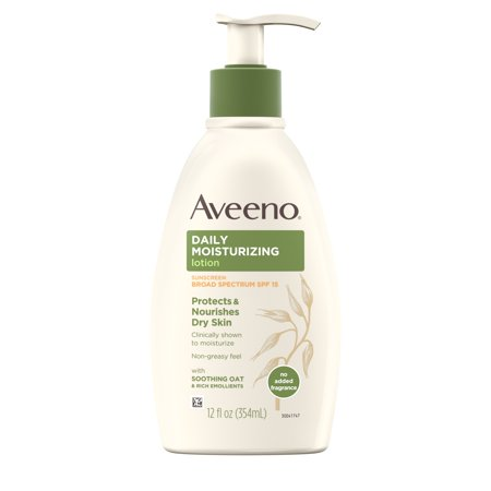 Aveeno Daily Moisturizing Body Lotion with SPF 15 & Oat, 12 fl. oz