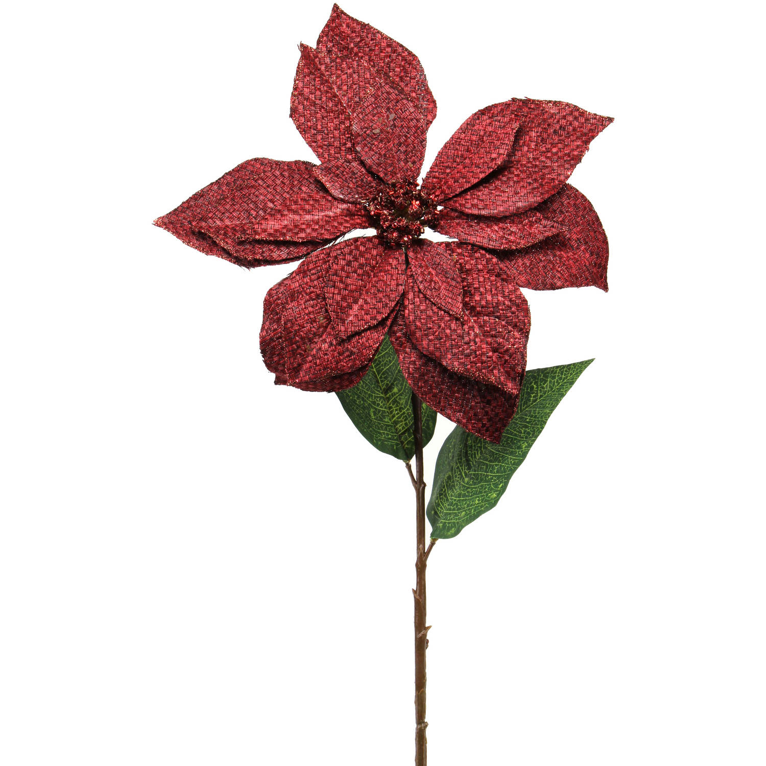 "Flower Shop Collection 26"" Poinsettia Stem, 12-Pack"