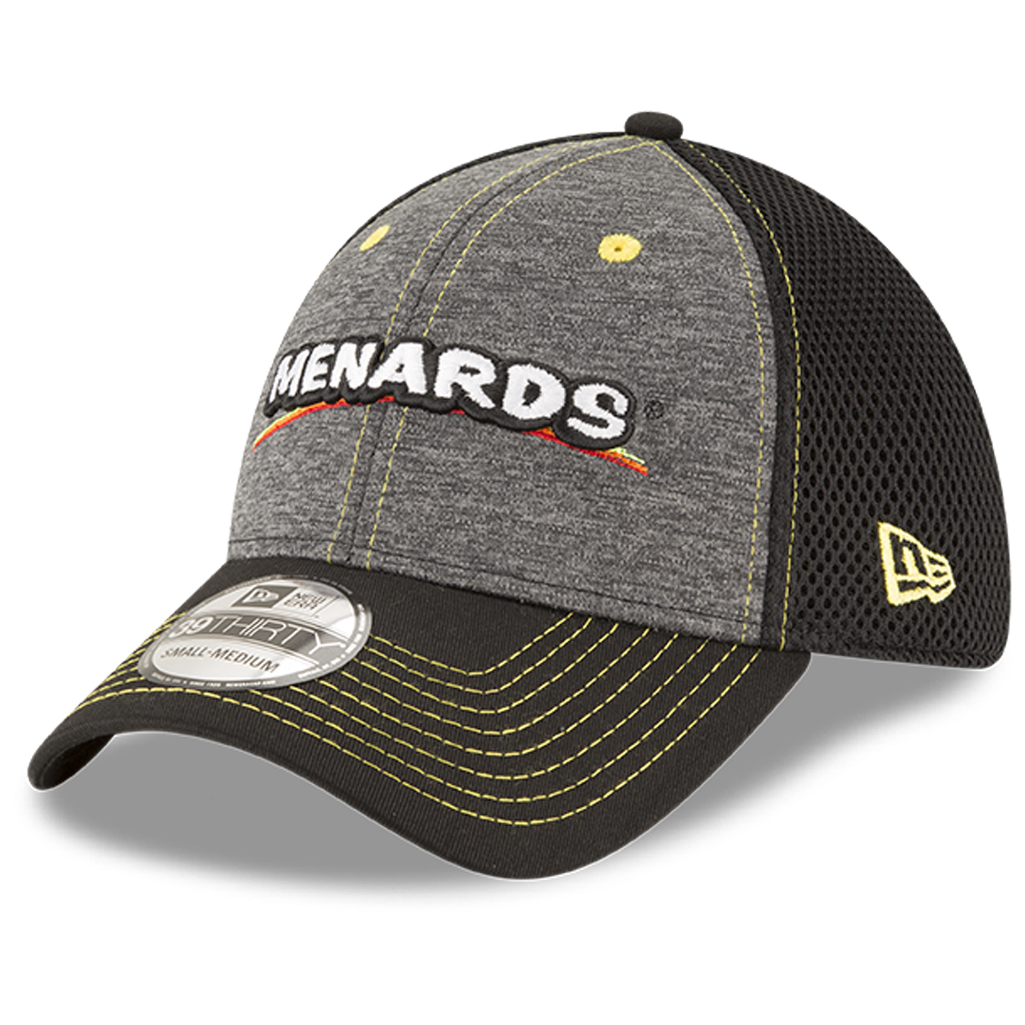 Ryan Blaney New Era Menards Black Neo Sponsor 39THIRTY Flex Hat - Graphite/Black