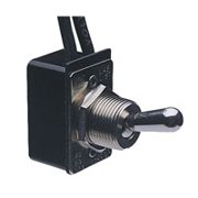 CALTERM 41720 Toggle Switch, 6/28 VDC, Panel Mounting, Black