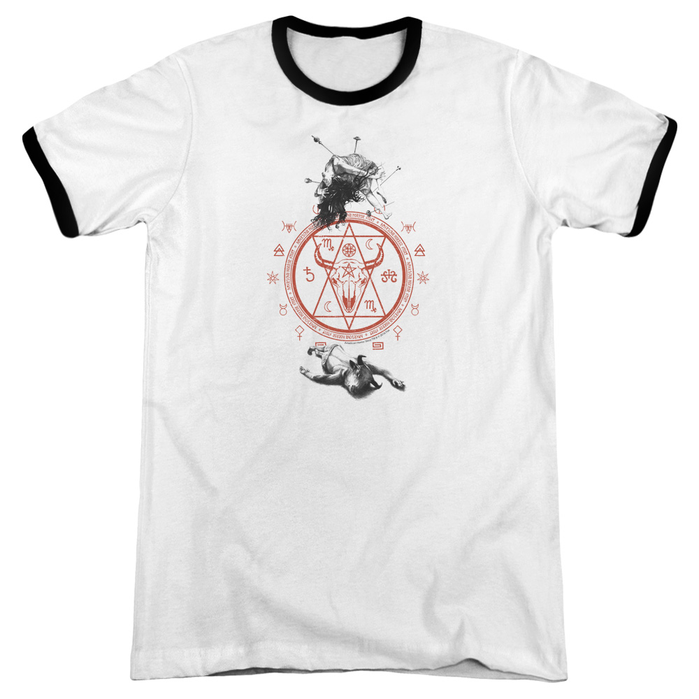 American Horror Story As Above So Below Mens Adult Heather Ringer Shirt