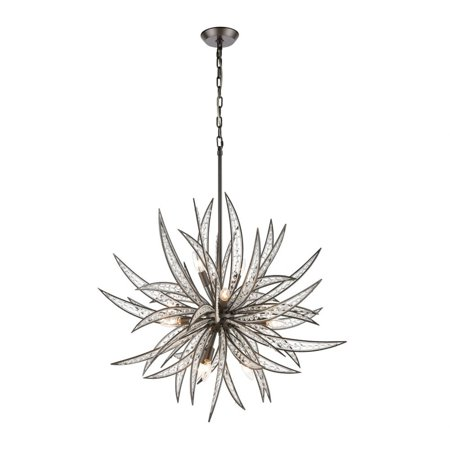 Anthony Promenade - Eleven Light Chandelier  Dark Graphite Finish with Clear Crystal Glass-Bailey Renaissance Eleven Light Chandelier