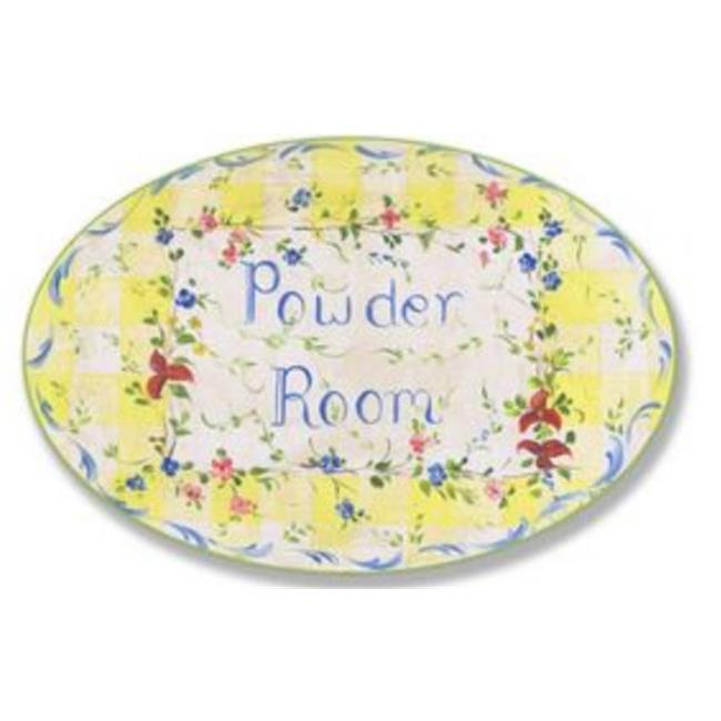 Stupell Industries Powder Room Floral Oval Wall Plaque
