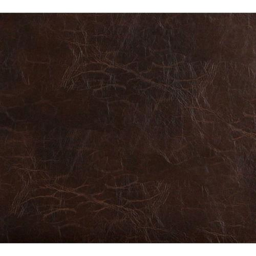 Discounted Designer Fabrics G491 Brown Distressed Leather Look