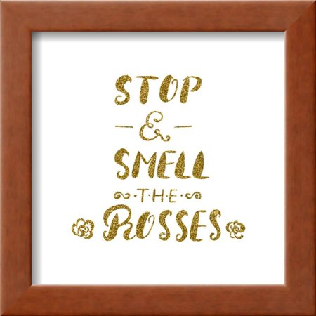 Stop and Smell the Roses -Handdrawn Brush Pen Inspirational Quote ...