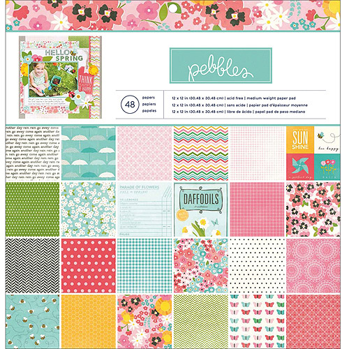 """Garden Party Paper Pad, 12"""" x 12"""", 48 Sheets, 24 Designs"""