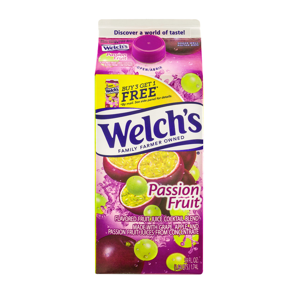 Welch's Fruit Juice Cocktail Blend Passion Fruit, 59.0 FL OZ ...