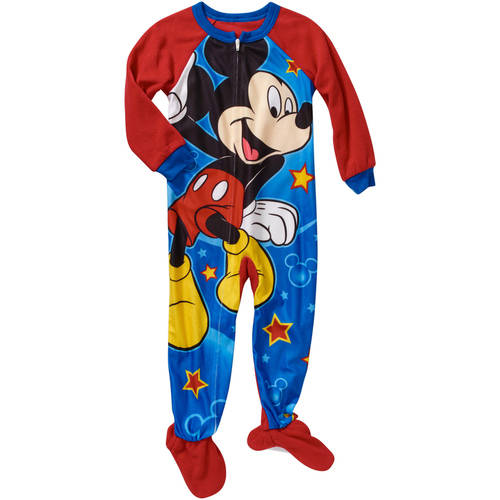 Disney Mickey Mouse Baby Toddler Boy Footed Pajamas