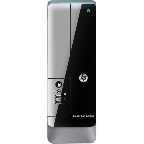 HP Black Pavilion Slimline s5-1540 Desktop PC with Intel Celeron G465 Processor, 4GB Memory, 500GB Hard Drive and Windows 8 Operating System (Monitor Not Included)