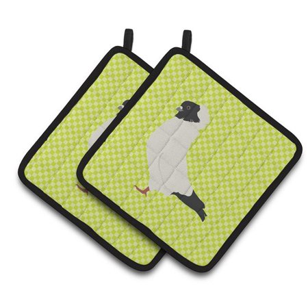Carolines Treasures BB7778PTHD Nun Pigeon Green Pair of Pot Holders - image 1 of 1