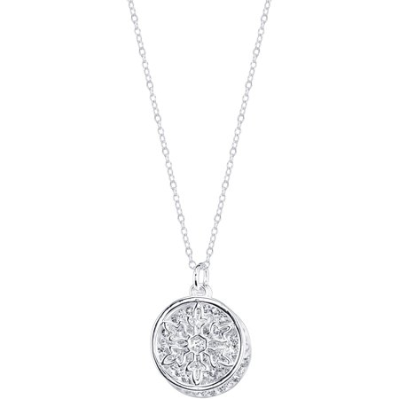 - Disney Crystal Silver-Tone Let It Go Frozen Necklace, 18