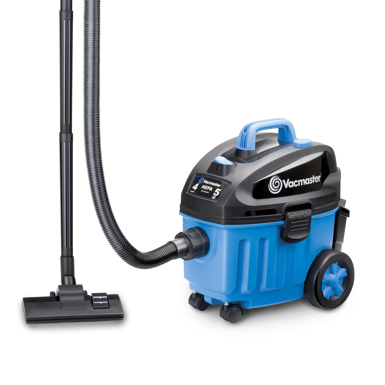 Vacmaster 4 Gallon, 5 Peak HP Wet/Dry Floor Vacuum, Blue