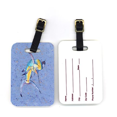 Marlin Tag - Pair of Blue Marlin Luggage Tags