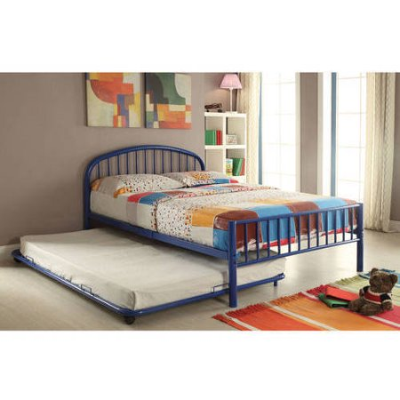 Alex Trundle Twin Bed - Cailyn Twin Bed with Trundle, Blue