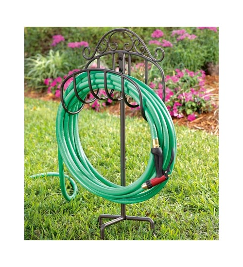 Plow U0026 Hearth Garden Hose Reels Wrought Iron Portable Hos.