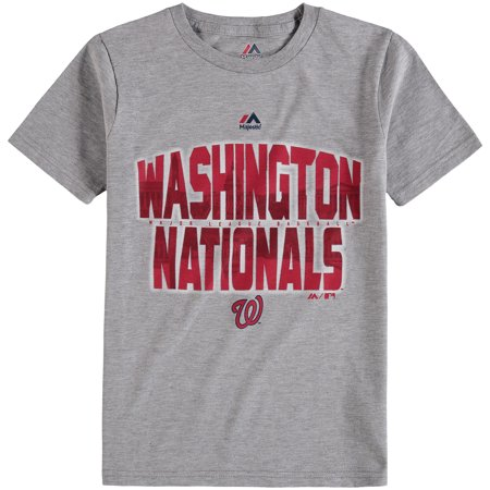 Washington Nationals Majestic Youth Big City T-Shirt - Gray