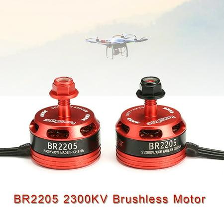 Racerstar Brushless Motor BR2205 2300KV 2-4S CW/CCW For QAV250 ZMR250 260 280 (Park 370 Brushless Motor)