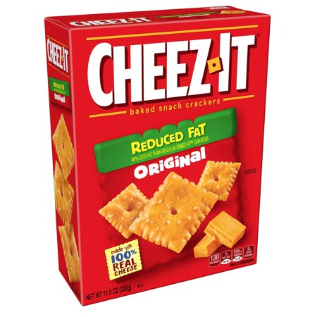 Cheez It Reduced Fat - Cheez-It, Baked Snack Cheese Crackers, Reduced Fat, Original, 11.5oz Standard Packaging 11.5 oz