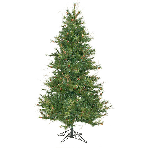 "Unlit 7.5' x 54"" Slim Mixed Country Tree Artificial Christmas Tree, Green"