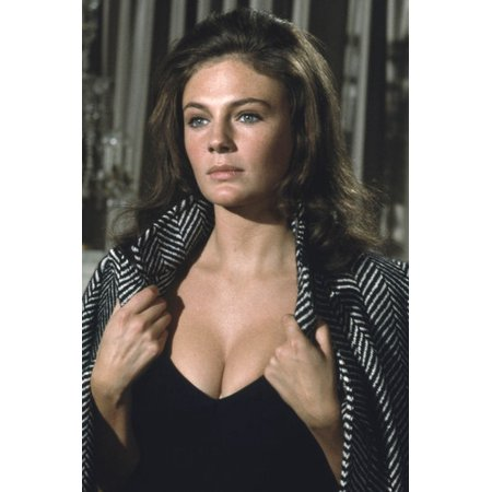 Jacqueline Bisset very busty in low cut black dress early 1970's 24x36 Poster - 1970 Dress Attire