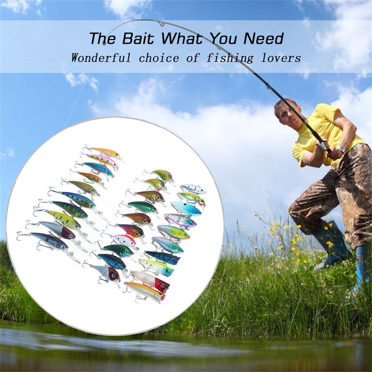 Multicolor 30Pcs Set Fishing Lures Artificial Soft Lure Baits With Hook Fishing Tackle by