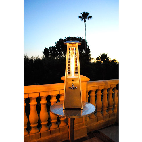 Lava Heat Italia Mini Lava Tabletop Patio Heater With Stainless Steel Finish