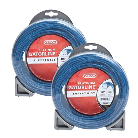 Oregon 20-106 (2 Pack) Platinum Gatorline 1/2lb String Trimmer Line 0.105 Gauge # 20-106-2PK