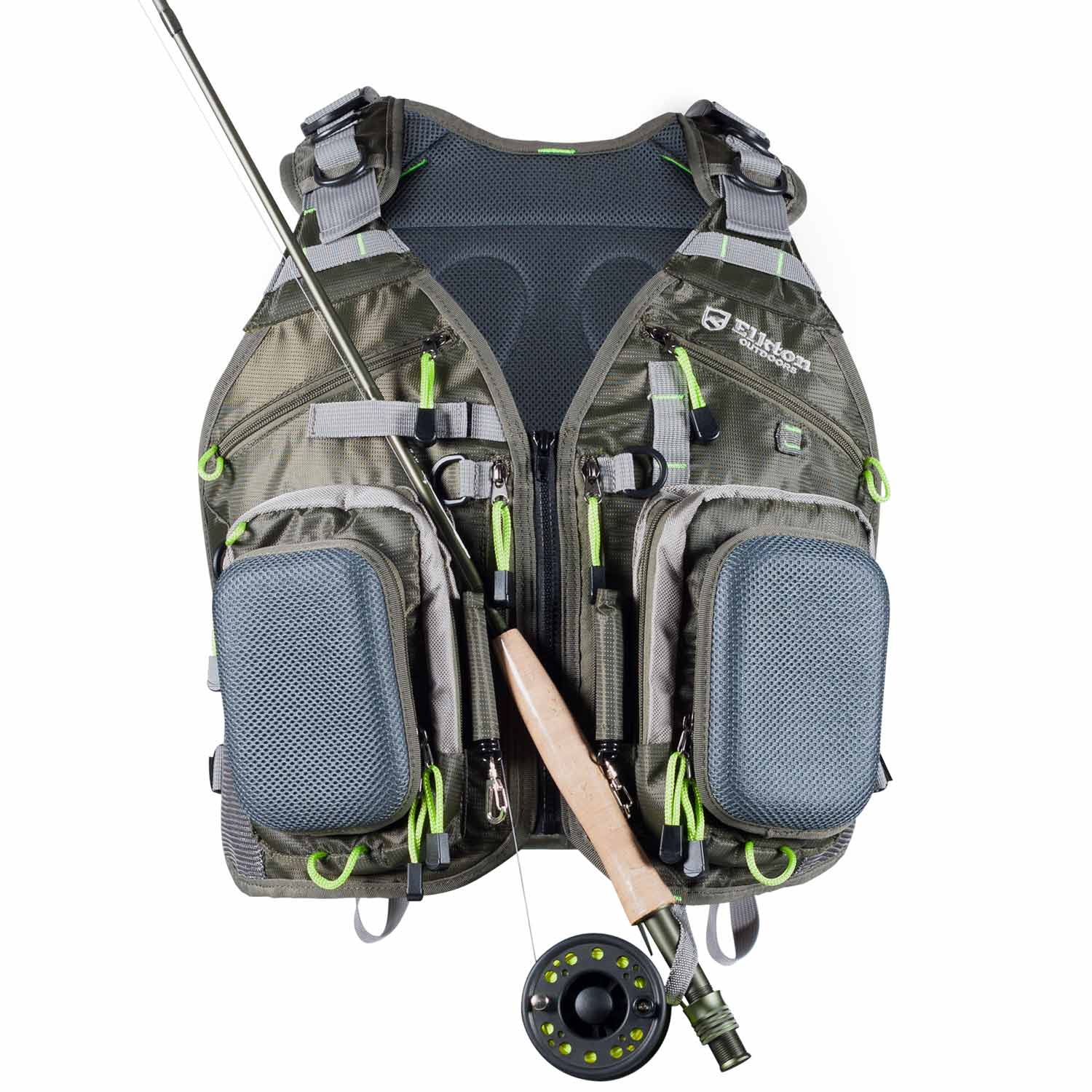Universal Fit Fly Fishing Vest Backpack With Hard Shell S...
