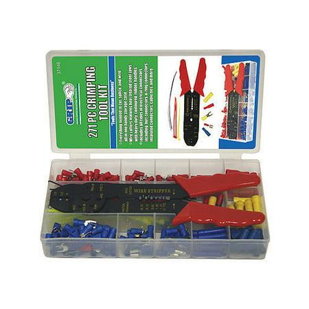 GRIP 271pc Crimping Tools Kit Splice Wiring Cutter Solderless Terminals 37146