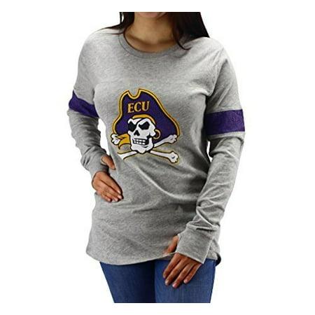 Pressbox Women' s Juniors NCAA ECU East Carolina Pirates Long Sleeve Shirt