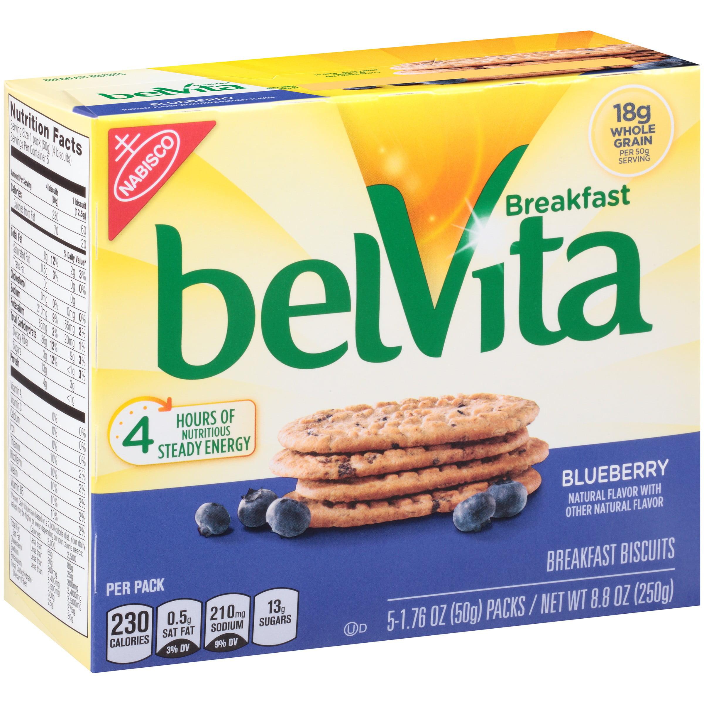 belVita Breakfast Biscuits Blueberry, 176 oz, 5 Count by Mondelez Global LLC