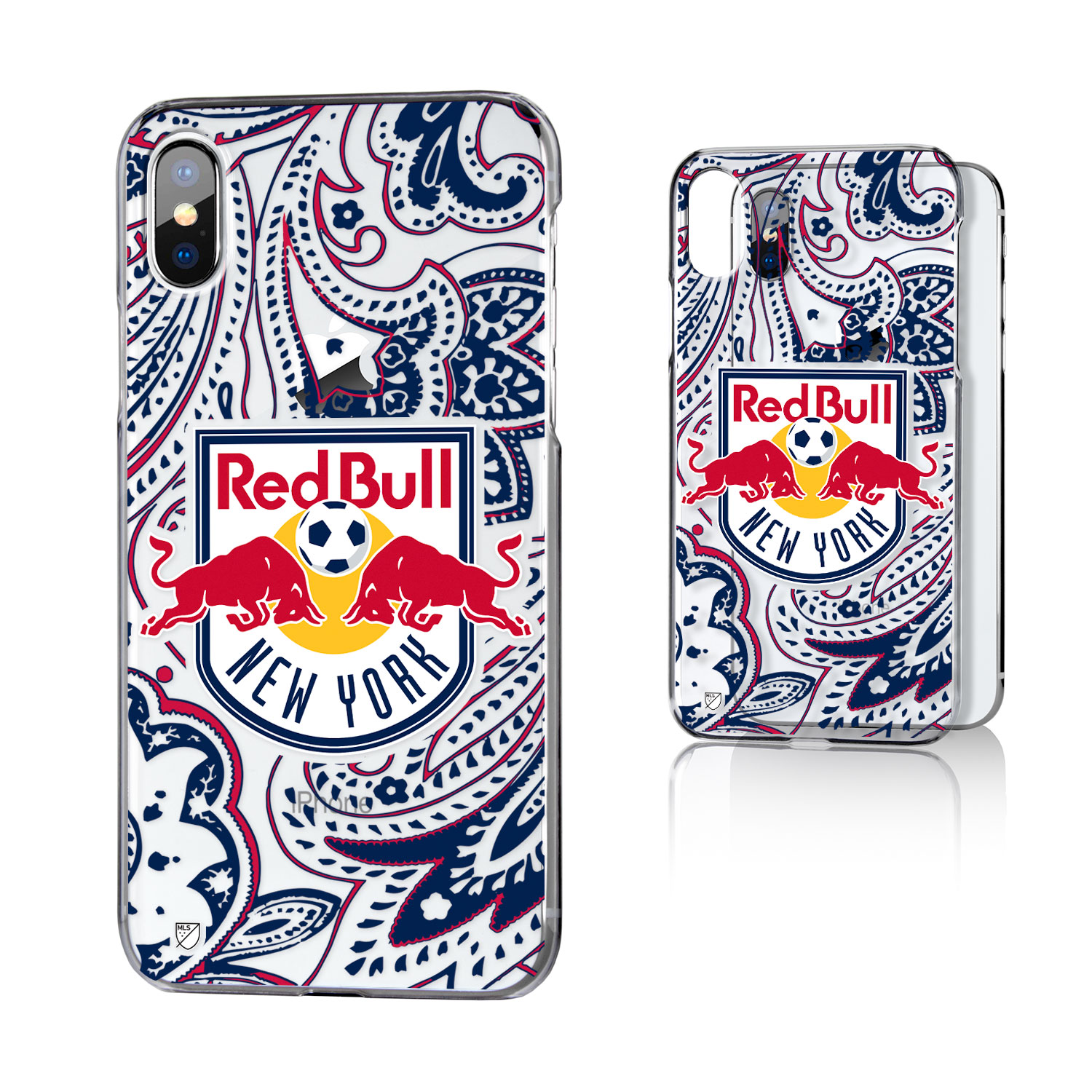 New York Red Bulls RED BULLS Paisley Clear Case for iPhone X