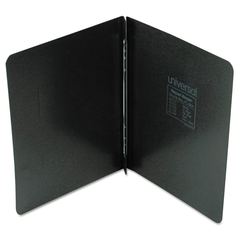 "Pressboard Report Cover, Prong Clip, Letter, 3"" Capacity, Black"