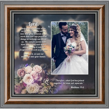 Christian Photo - Picture Framed Prayer for Your Marriage, Christian Wedding Gift for Bride and Groom, 10x10 6325