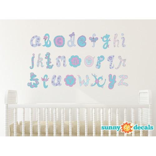 Sunny Decals Script Alphabet Fabric Wall Decal