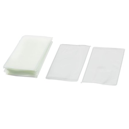Office School Plastic Square Name Tag Bussiness Badge ID Card Holder Clear 50pcs - image 1 de 1