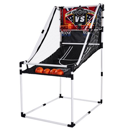 Lancaster 2 Player Junior Home Electronic Scoreboard Arcade Basketball Hoop